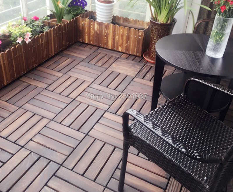Carbonized Wood Antiseptic Outdoor Floor Terrace Courtyard Bathroom Balcony Anti