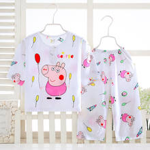 Cotton Cartoon Pajamas for Children Boys Girls Sleeping Nightgown and Pyjama Trousers Pajama Set Baby Pajamas Toddler Infant(China)