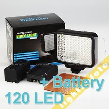 Professional 120 LED Camcorder Video Light LED Lamps Hot Shoe Battery Camera Photo Accessories