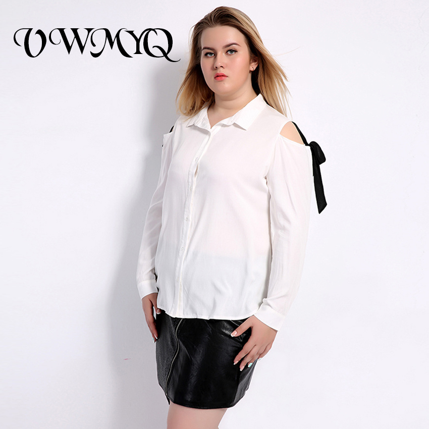 74c555c824048 VWMYQ Large Sizes Blouses 2017 Fashion Plus Size Shirt Cold Shoulder Long  Sleeve Casual Clothing Women Big Size Tops 4XL 5XL 6XL-in Blouses   Shirts  from ...