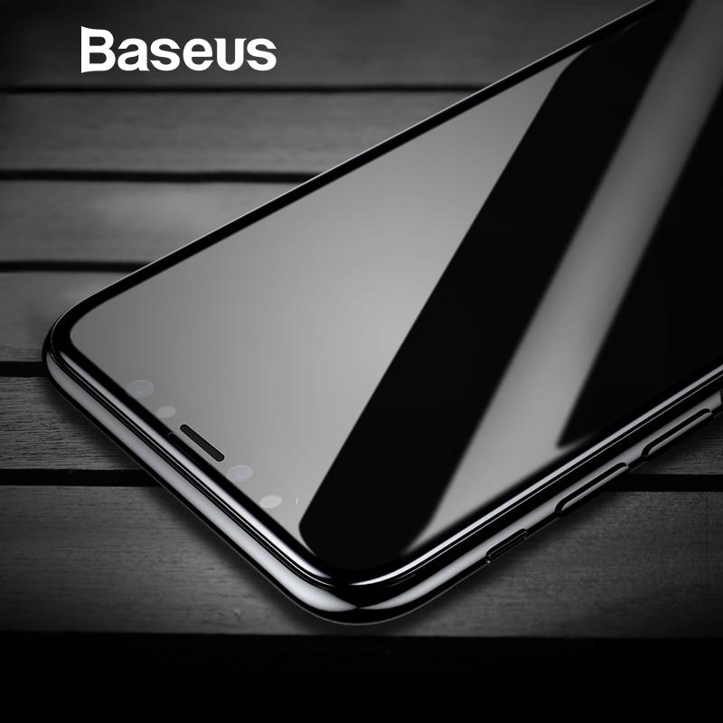 Baseus Gehärtetem Glas Für iPhone X Screen Protector 4D Oberfläche Vollständige Abdeckung Glas Für iPhone X Front Film Abdeckung 0,3mm Dünne Film