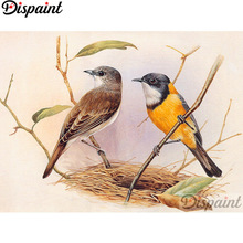 Dispaint Full Square/Round Drill 5D DIY Diamond Painting Animal bird scenery 3D Embroidery Cross Stitch Home Decor Gift A12321 dispaint full square round drill 5d diy diamond painting teacup bird scenery 3d embroidery cross stitch 5d home decor a18408