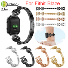 Stainless Steel Band For Fitbit Blaze smart replacement watchband Wrist Strap For Fitbit Blaze bracelet Rhinestone Without Frame v moro genuine leather watch band for fitbit blaze replacement band metal frame wrist strap for fitbit blaze
