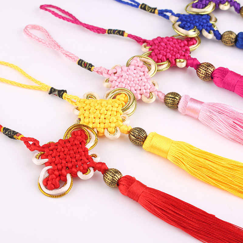 The 8 set China junction DIY China Phnom Penh car hanging pendant ears knot tassel trumpet Chinese knot