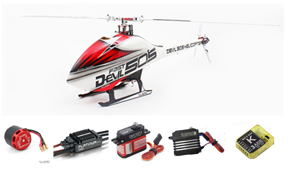 ALZRC Devil 505 FAST RC Helicopter Super Combo In store alzrc devil 380 fast fbl super combo black rc 380 helicopter