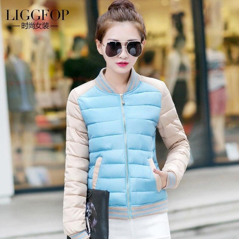 2017 Autumn Winter New hot sale baseball uniform female down cotton padded Jacket slim fashionable Coat