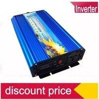 От сетки инвертор 1000 Вт Surge Мощность 2000 Вт DC24V к AC120VAC 60 Гц чистая синусоида солнечный инвертор
