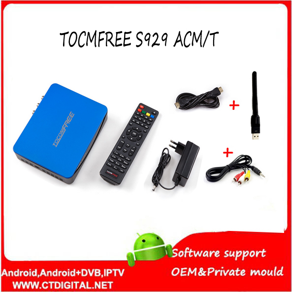 2017 Digital satellite receiver tocomfree s929acm/t +ISDBT+SKS IKS +USB WIFI +NEWCAM +CCCAM +POWERVU for Latin America free forever nusky n3gsi nusky n3gst south america satellite receiver with iks sks free better than tocomfree s929 plus