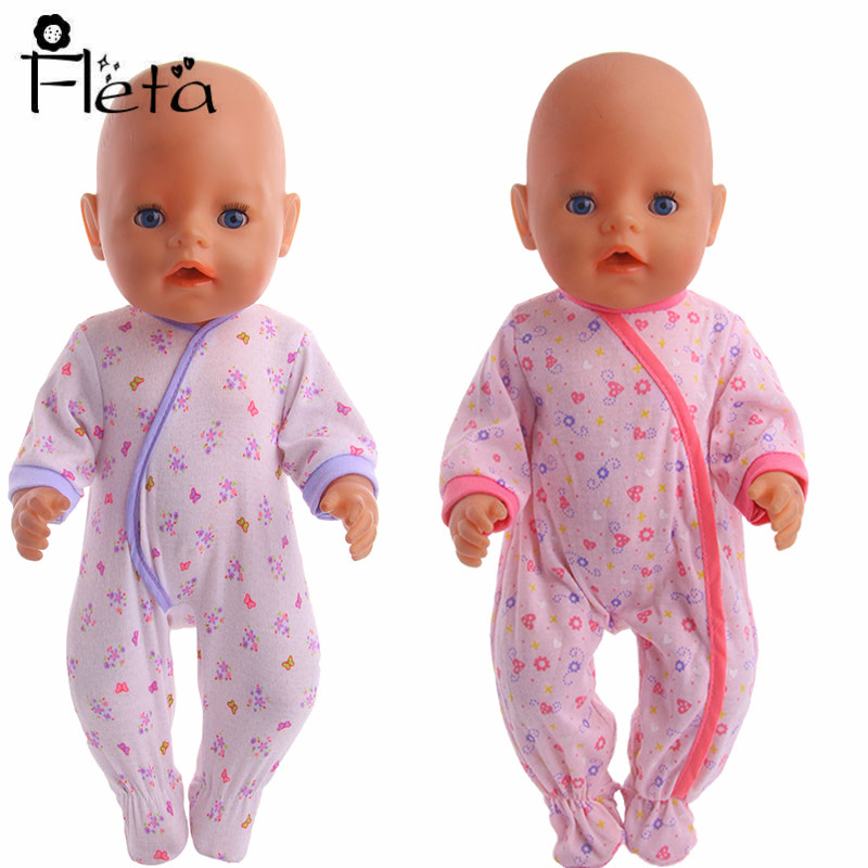 Doll Jumpsuit Nightgown & Sleepwear Fit 18 Inch American & 43 Cm Born Baby Our Generation Birthday Girl's Gifts