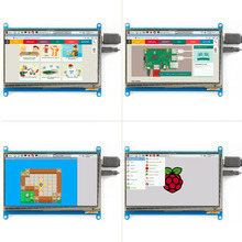 7.0'' Raspberry Pi 3 Display Capacitive Touch Screen HDMI HD LCD TFT 800X480 Monitor for Raspberry Pi 3 2B B Pcduino Win7 8