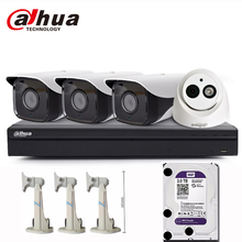 dahua 4k community surveillance  system 8ch eight ports eight poe video recorder  NVR 4208-8P-4K  with 4pcs 4mp ip digicam onerous disk