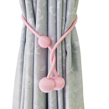 1PC Extra Long Magnetic Curtain Tiebacks with 3 Ball Window Drape Tie Backs Draperies Blackout Holdback for Decor