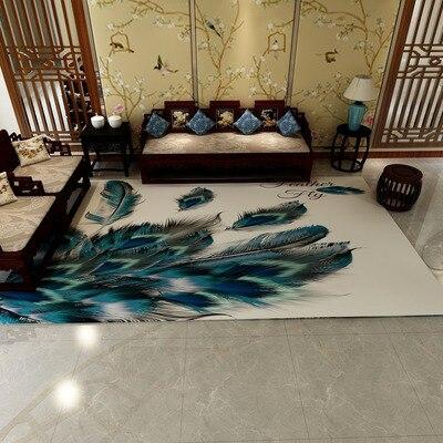 Nordique Tapis Pour Salon décoration d'intérieur Plancher tapis lavables Tapis Chambre descentes de lit Anti-glissement chaise de bureau Tapis