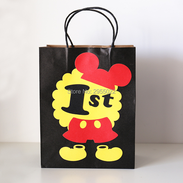 1 St Mouse Favor Bags Black Decorations Candy Gift Treat