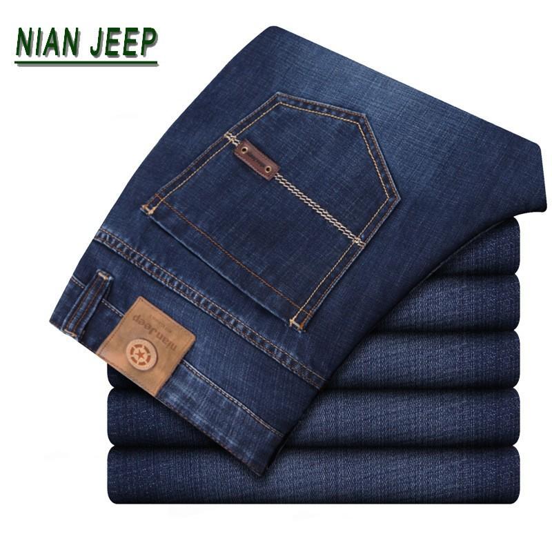 Lihtsad sinised meeste teksapüksid