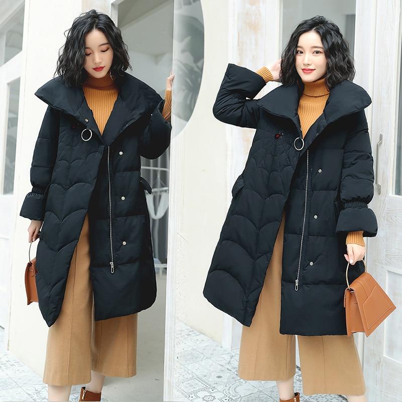Abrigo Suelta Mujer Blue Parka De Beige Chaqueta Abrigada Invierno 5tqS4x