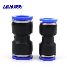 Air Pneumatic 10mm 8mm 12mm 6mm 4mm 16mm OD Hose Tube One Touch Push Into Straight Gas Fittings Plastic Quick Connectors Fitting