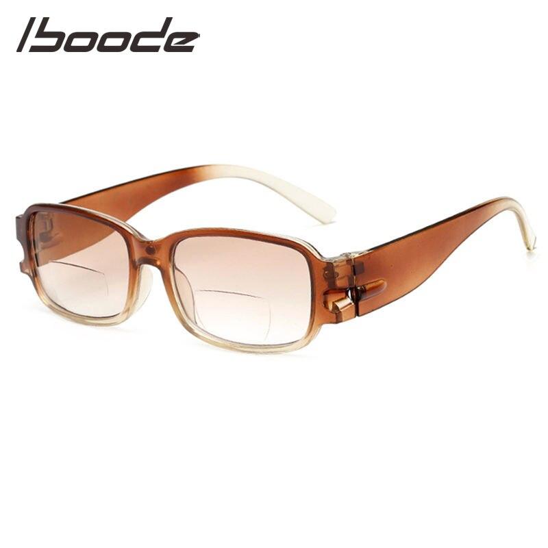 Herren-brillen Iboode Einfache Design Lesebrille Mit Klar Objektiv Männer Frauen Gläser Doppel Funktionale Objektiv Für Eltern Volle Rahmen Modische Muster