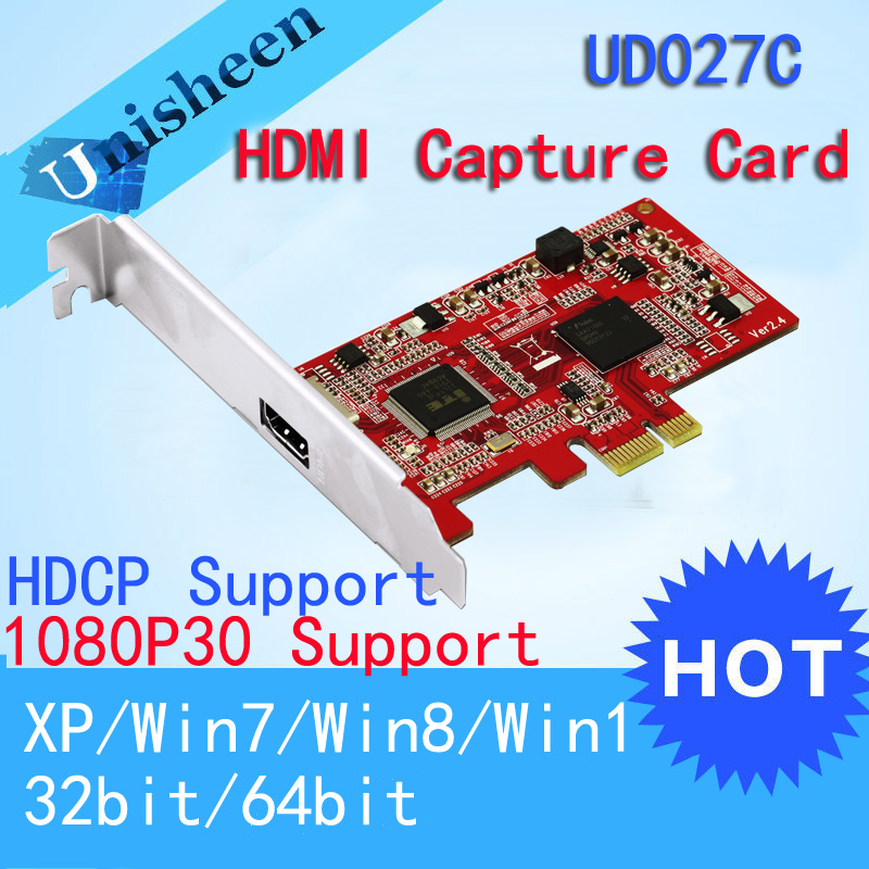 HD Video capture Card PCIe 1080P30 HDMI Capture Card avermedia darkcrystal hd capture sdk duo c129 up to 1080p30 i60 hdmi component s video composite with complete sdk