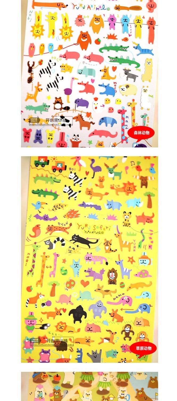 Scrapbook paper envelope - Funny Animal Mind Wave Album Envelope Seal Scrapbook Paper Pvc Stickers Decoration Flat Decorative Stickers Mw