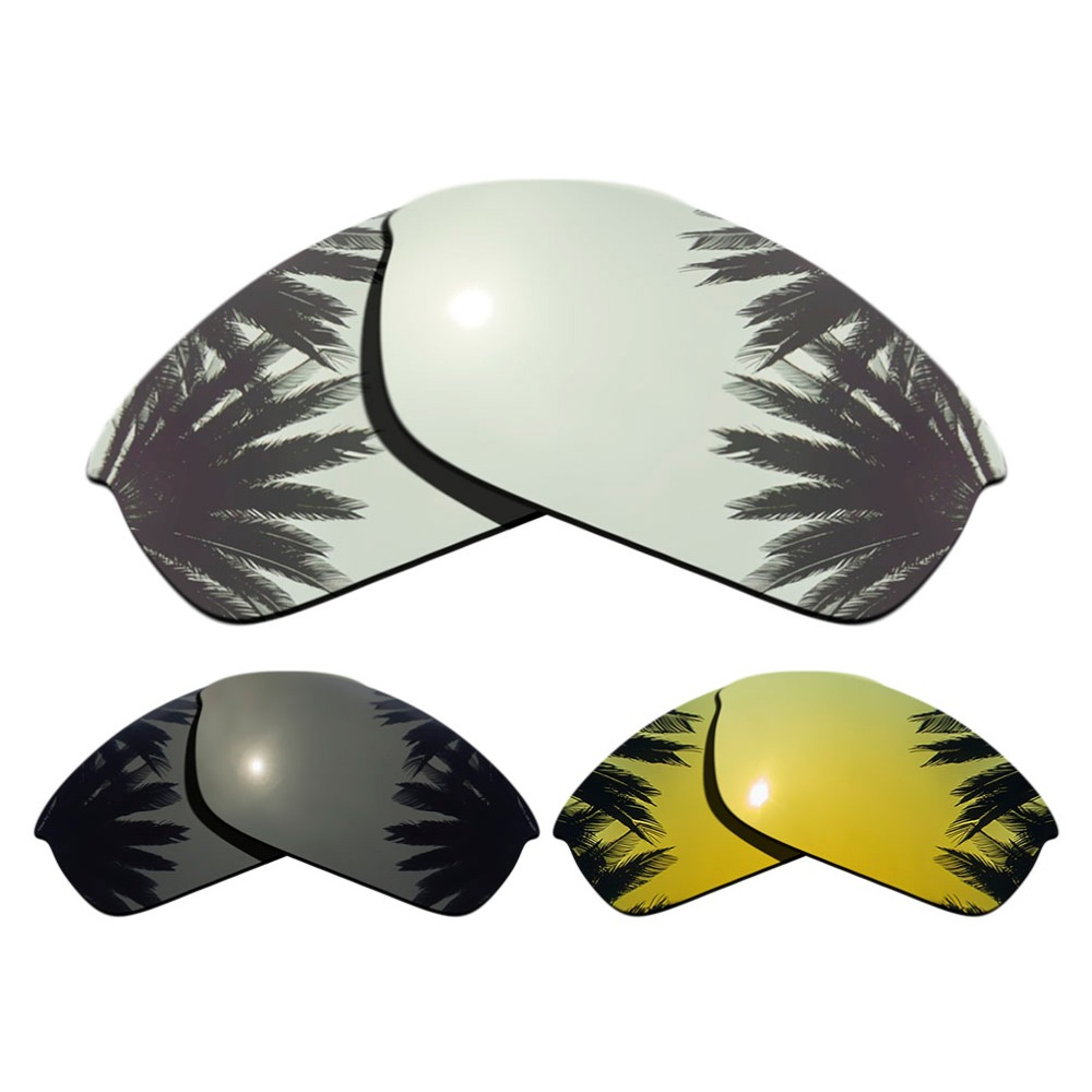 silver Mirrored+black+24k Gold Mirrored Coating Methodical 3-pairs Polarized Replacement Lenses For Flak Jacket 100% Uva & Uvb Protection