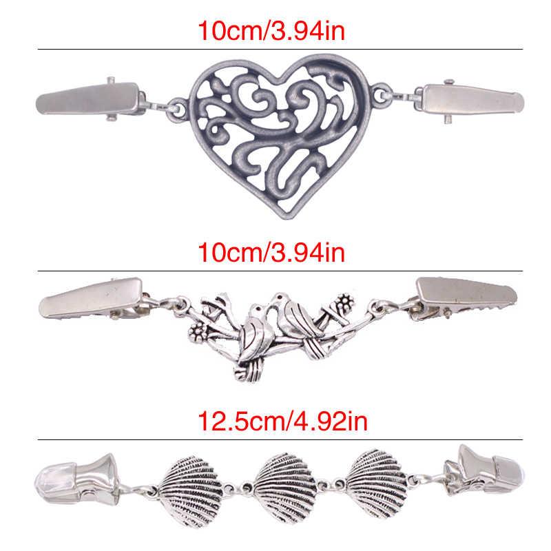 Модная шаль утка клип ретро свитер кардиган зажимы Хранитель пряжки одежда Декор бисером жемчуг булавка брошь металлическая пряжка