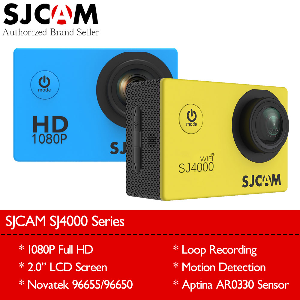 Newest Original SJCAM SJ4000 Wifi SJ4000 2 0 LCD Screen Action Camera Upgrade SJ CAM 4000