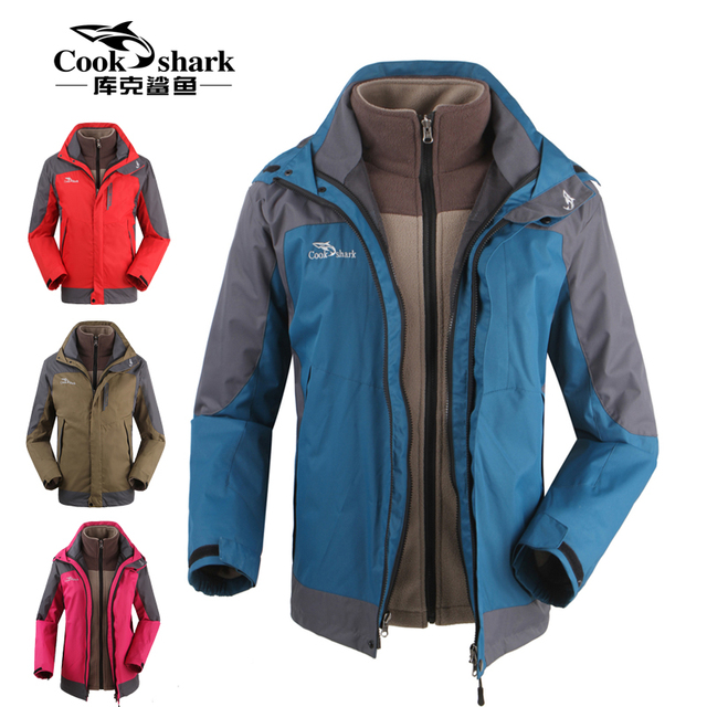 dc32ff1492eb Italy Cook shark outdoor jackets Mens two piece suit liner removable ...