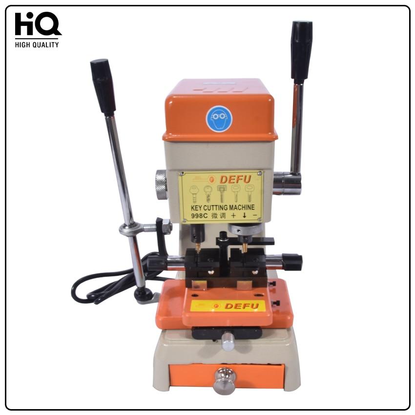 DEFU- 998C key cutting machine 220V/110V for door and car lock key copy machine to make keys locksmith supplies