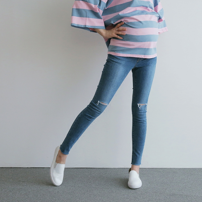 2017 autumn jeans maternity pants for pregnant women pregnancy clothing denim trousers lactation ropa para embarazadas maternal maternal practice during pregnancy
