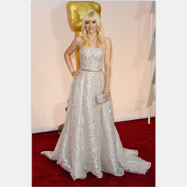 0e78c1847ba Anna Faris Red Carpet Gowns 2017 Luxury Celebrity Gowns 87th Academy Awards  Oscar A line Strapless