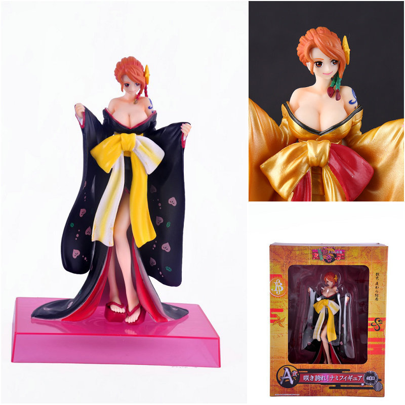 new 20cm Anime One Piece Figure Nami POP Limited Edition PVC Action Figure Kimono dress Sexy Collectible Model Toy Figurine Doll anime one piece dracula mihawk model garage kit pvc action figure classic collection toy doll