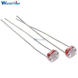 50 шт. LDR фото светочувствительных резистора фотоэлектрический фоторезистор 5528 GL5528