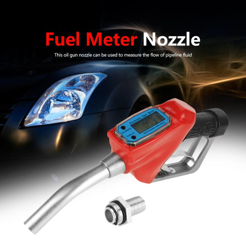 1pc Digital Fuel Oil Gasoline Nozzle Fuel Meter Nozzle Gun Fueling Nozzle with Flow Meter Oil Fill Nozzle High Quality-in Flow Meters from Tools    1