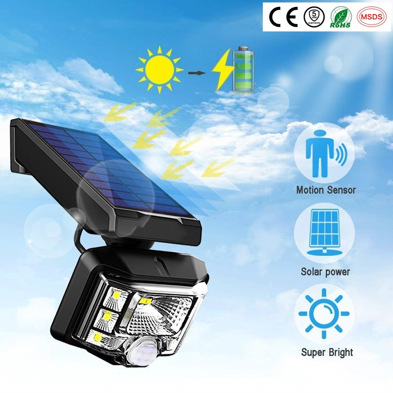 New Solar 8 Corey Led PIR Motion Sensor Lights Outdoor Waterproof Ip65 Wall Solar Light For Garden Yard Lamp Emergency Security