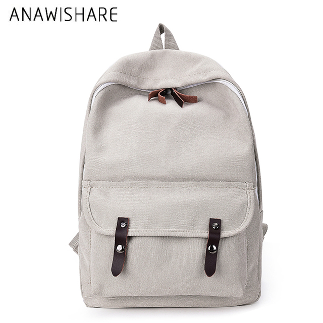 52f7a1dbfe ANAWISHARE Women Canvas Backpacks Rucksack School Bags For Teenagers Girls  Bookbag Shoulder Bags Travel Bags Mochila Escolar