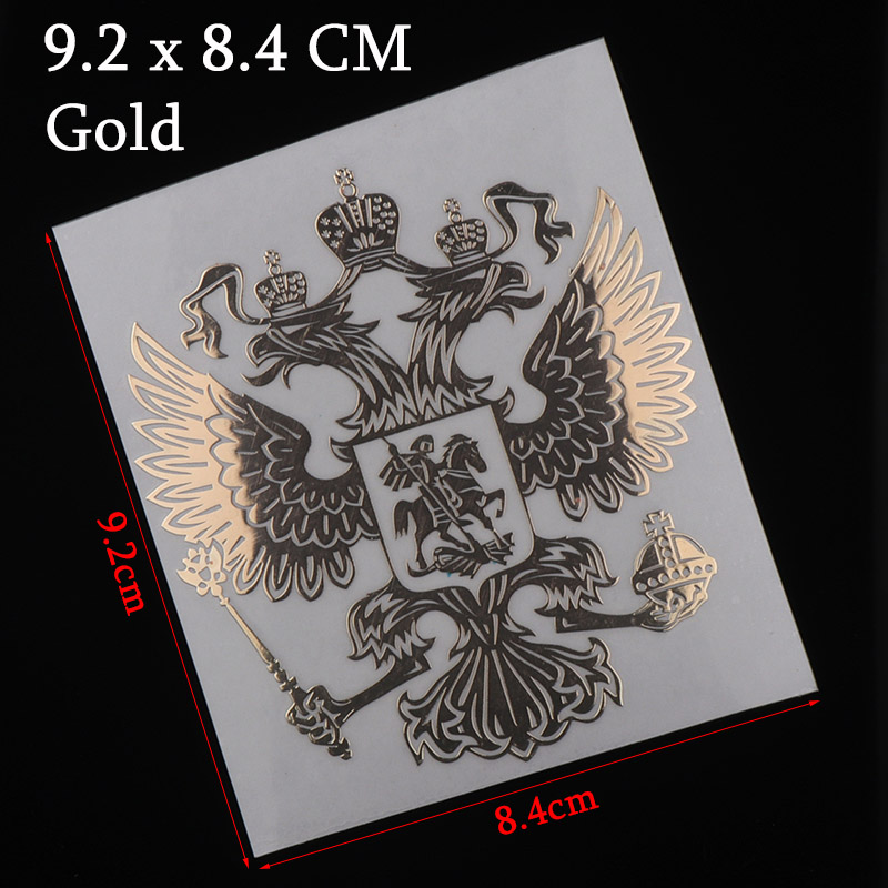 Image 2 - 3D Metal Coat of Arms of Russia Nickel Metal Car Stickers Decals Russian Federation Eagle Emblem for Car Styling Laptop Sticker-in Car Stickers from Automobiles & Motorcycles