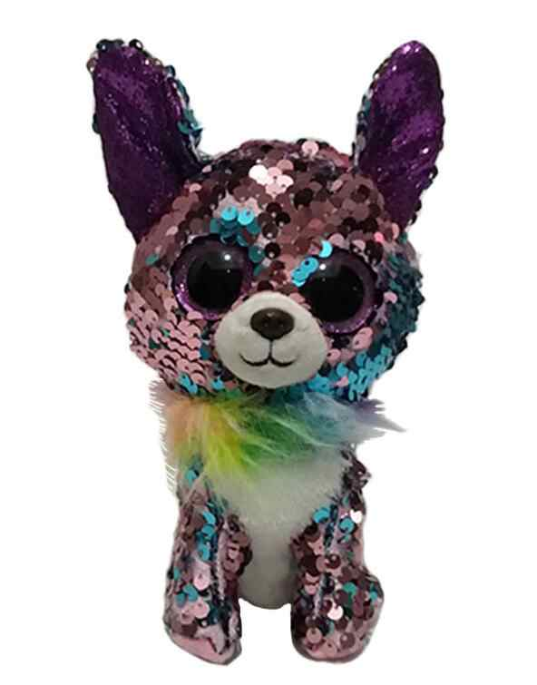 9a14d14c991 ... TY Beanie Boos 15cm sequin Unicorn Cat Bird Dog Draon Olw Plush Toys  Big Eyes Eyed ...