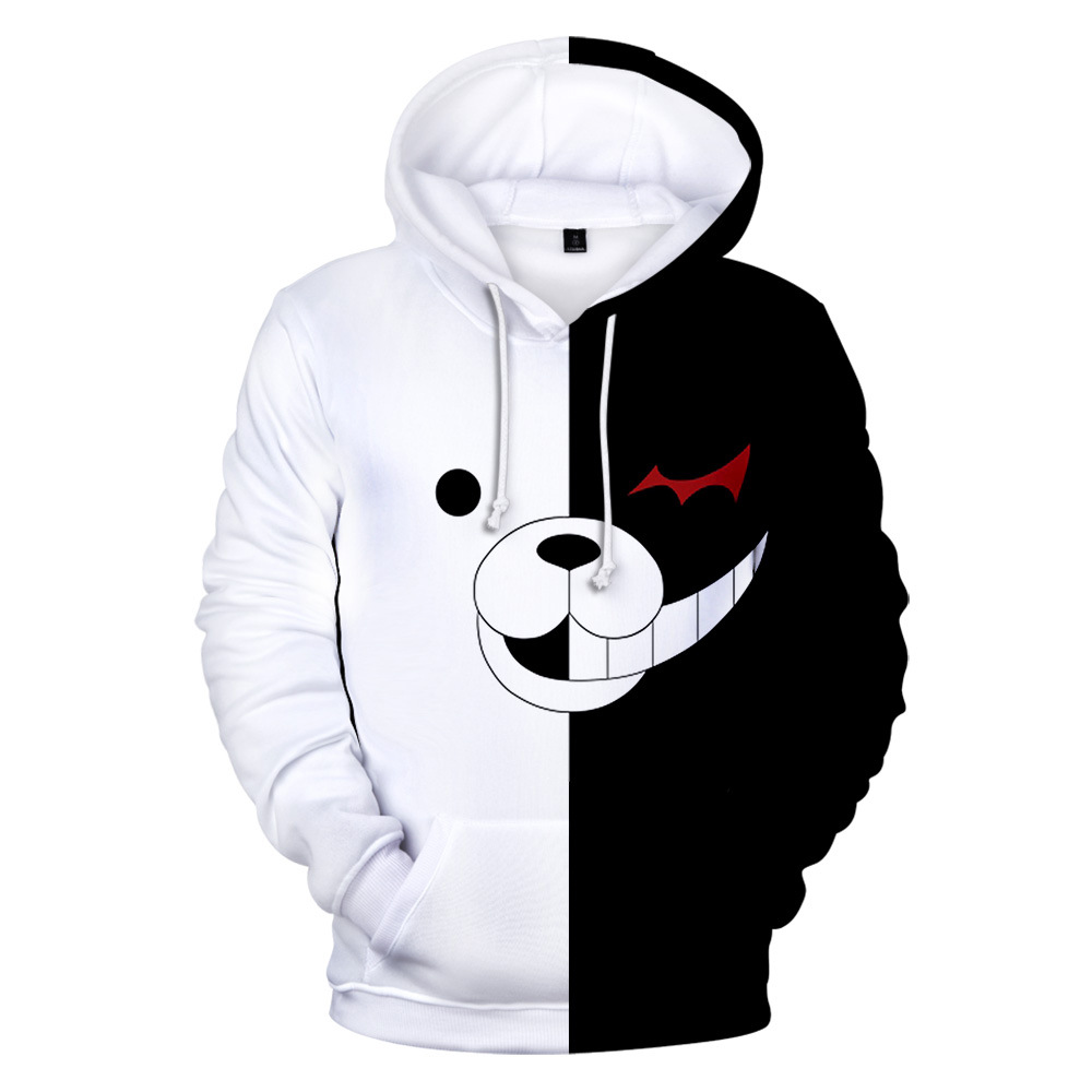 Danganronpa Monokuma Cosplay Hoodie Men Women Kid Sweatshirt Anime Clothes