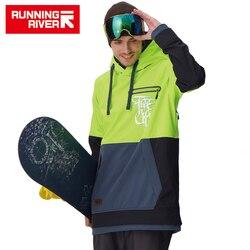 RUNNING RIVER marque hommes Snowboard à capuche 2018 haute qualité à capuche Sports de plein air ski Snowboard veste 5 couleurs 3 tailles # G6225