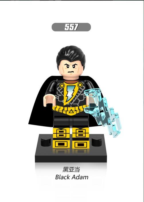 100pcs xh557 Super Heros Jaune Lumiere l'epouvantail Noir Adam Vert Lanten Firestorm Blocs de Construction Pour Enfants x0153 кофта adam pour eve