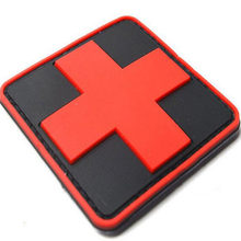 Promotions Outdoor Products PVC Badge Armband The Medical Rescue Of The Red Cross Chapter Morale Military Badges Badges(China)