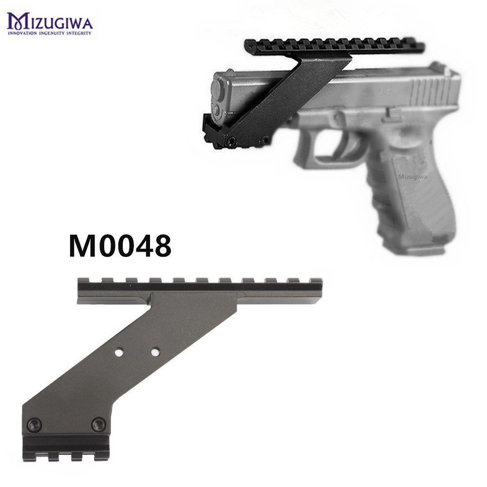 Hunting Pistol Scope Mount Rail Fshlight Laser Weaver Picatinny Glock 17 19 20 22 23 30 32