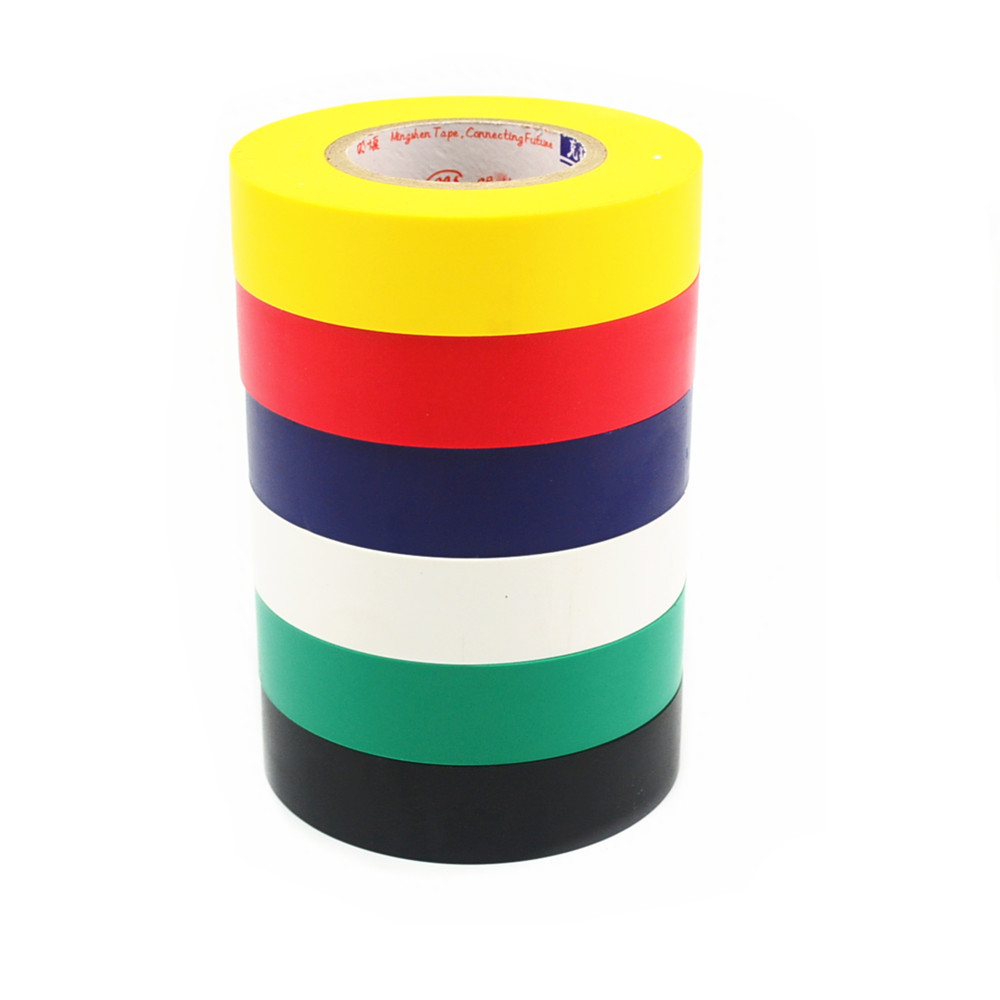 Electrical Tape Insulation Adhesive Tape Waterproof PVC 18mm Wide High-temperature Tape 18M multi color 1 roll 20m marking tape 100mm adhesive tape warning marker pvc tape