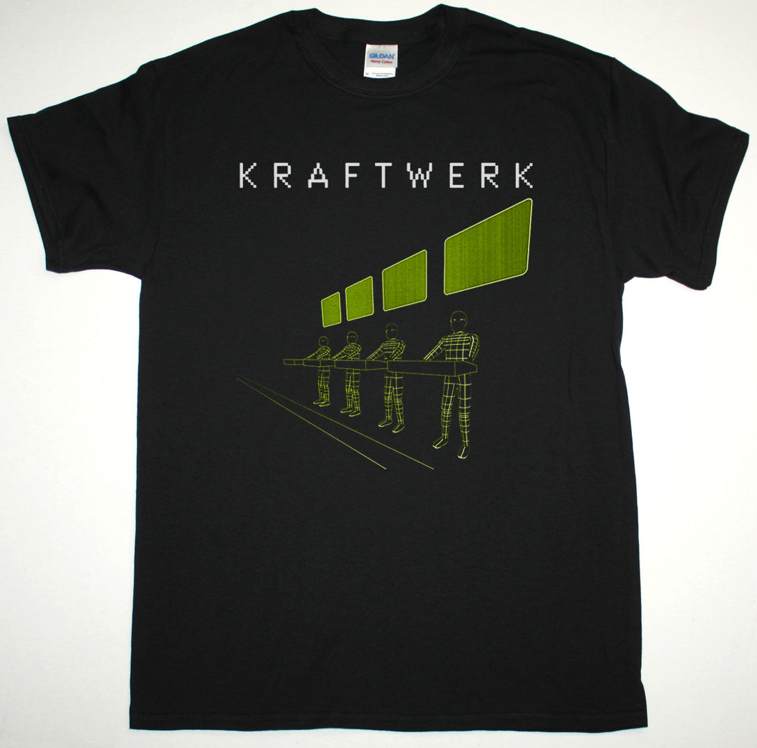 Kraftwerk Expo Remix черная футболка электронный krautrock Neu! Спереди 242 Ultravox