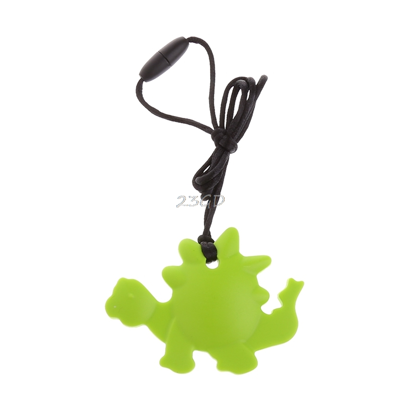 2017 Food Grade Silicone Dinosaur Teething Pacifier Pendant Soother Teether For Baby MAY13 35