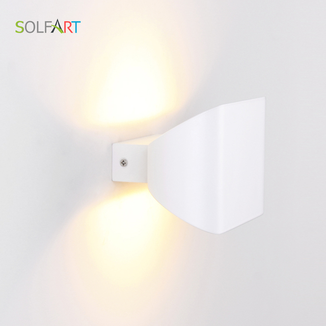 A1016 small light small wall light led light white shade aluminum shade wall lamp  modern indoor wall light
