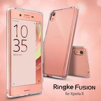 100 Original Fusion Case For Xperia X 5 Inch Crystal PC Back Panel Soft TPU Frame