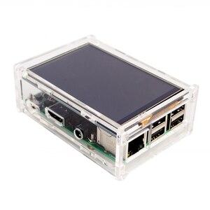 Image 5 - ラズベリーパイ 3 モデル B ボード + 3.5 TFT ラズベリー Pi3 液晶タッチスクリーンディスプレイ + アクリルケース + 熱シンクラズベリーパイ 3 キット