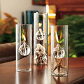 1 x O.RoseLif Luxury Handmade Creative Glass Oil Lamp Candlelight Dinner Candle Holders Transparent Cylinder Hook Lamp Marriage